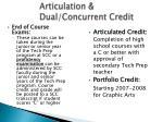 articulation dual concurrent credit