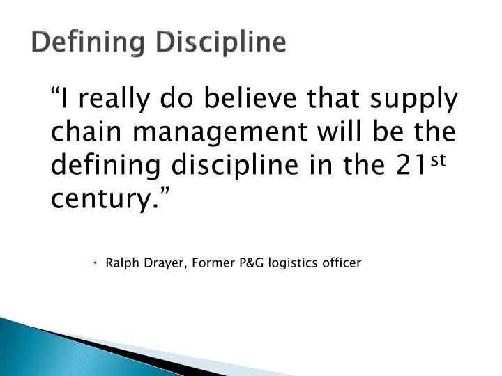 Defining Discipline