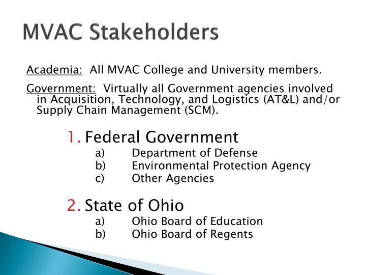 MVAC Stakeholders