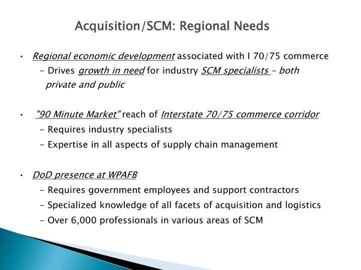 Acquisition/SCM: Regional Needs