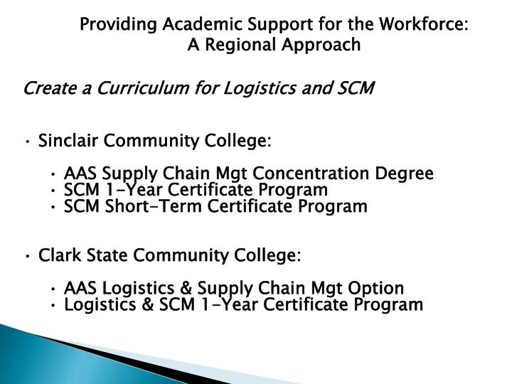 Providing Academic Support for the Workforce: