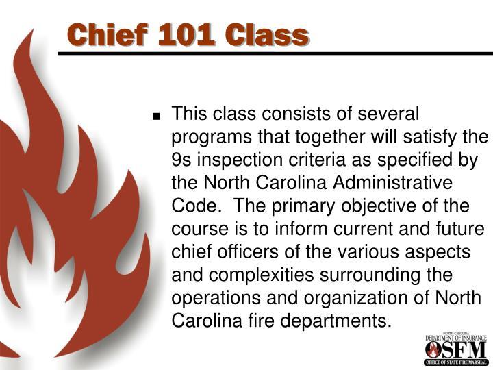 Chief 101 Class