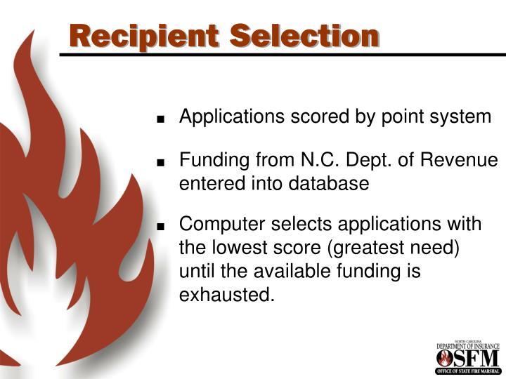 Recipient Selection