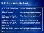 h period of availability con t1