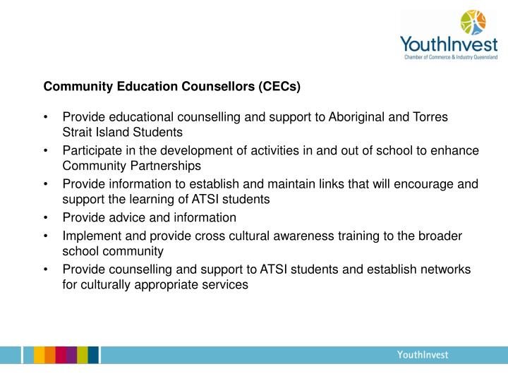 Community Education Counsellors (CECs)