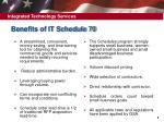 benefits of it schedule 70