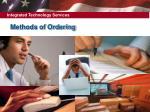 methods of ordering