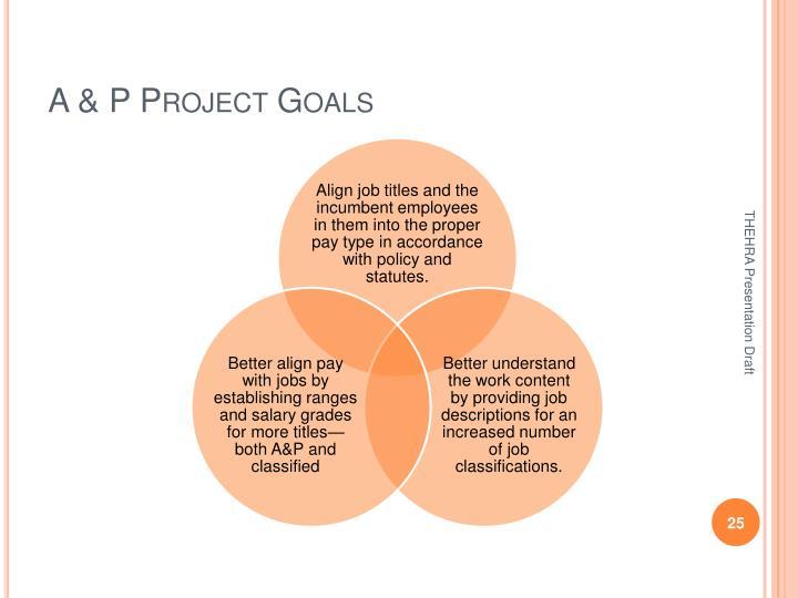 A & P Project Goals
