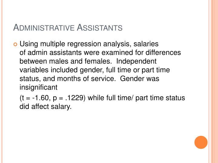 Administrative Assistants