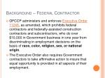 background federal contractor