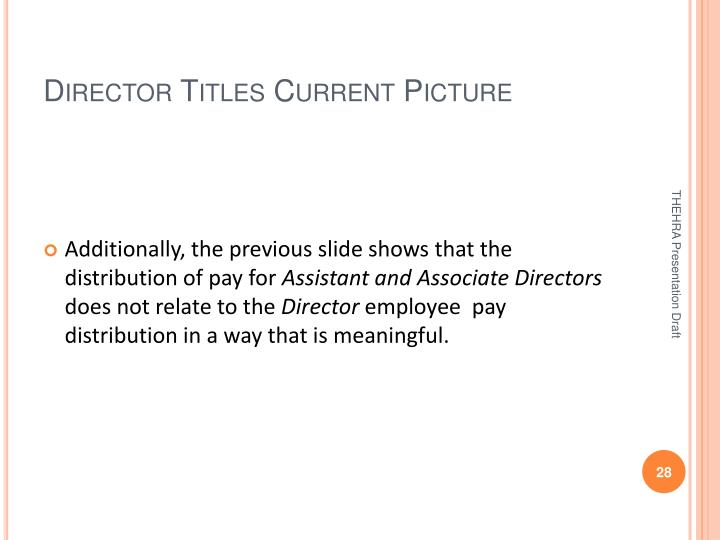 Director Titles Current Picture