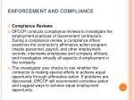 enforcement and compliance