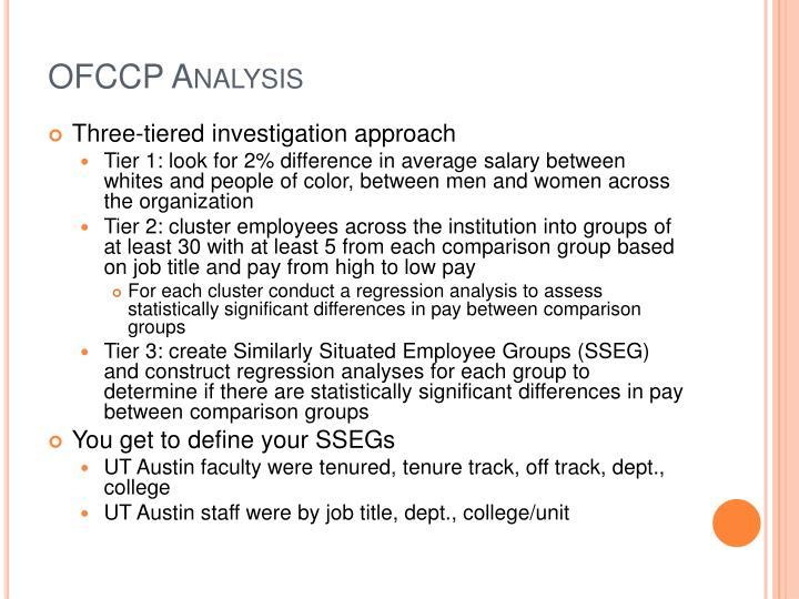 OFCCP Analysis