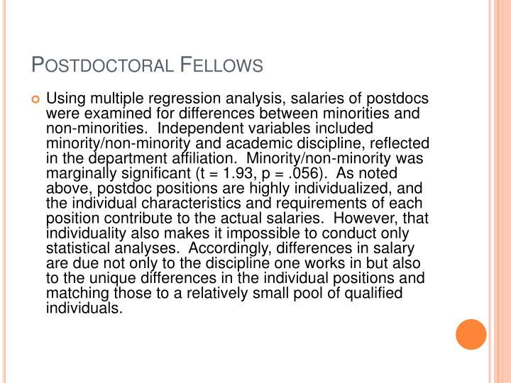 Postdoctoral Fellows
