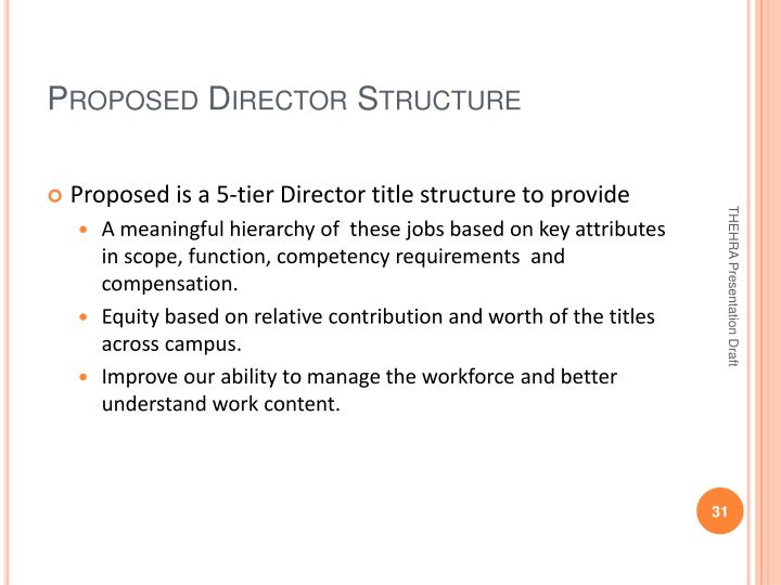 Proposed Director Structure
