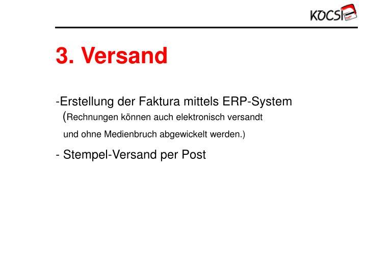 3. Versand