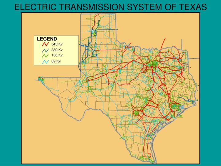 ELECTRIC TRANSMISSION SYSTEM OF TEXAS