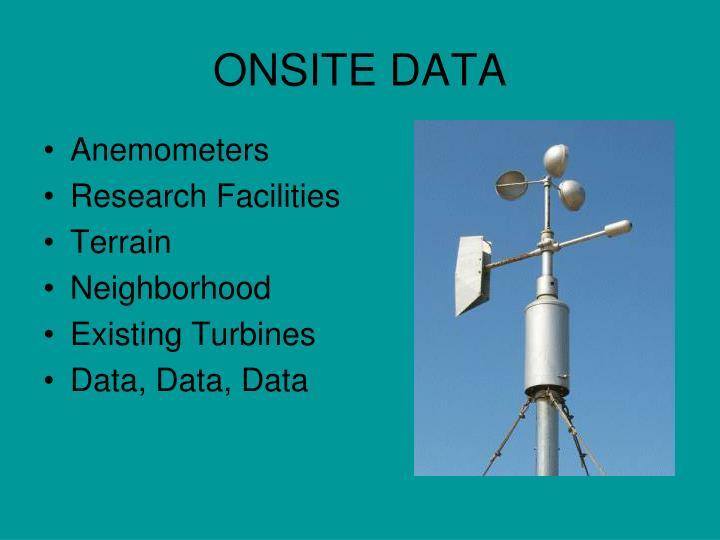 ONSITE DATA