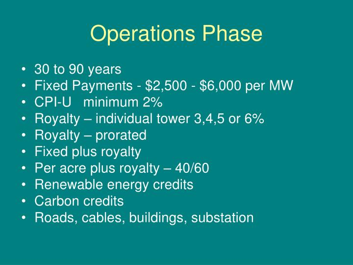 Operations Phase