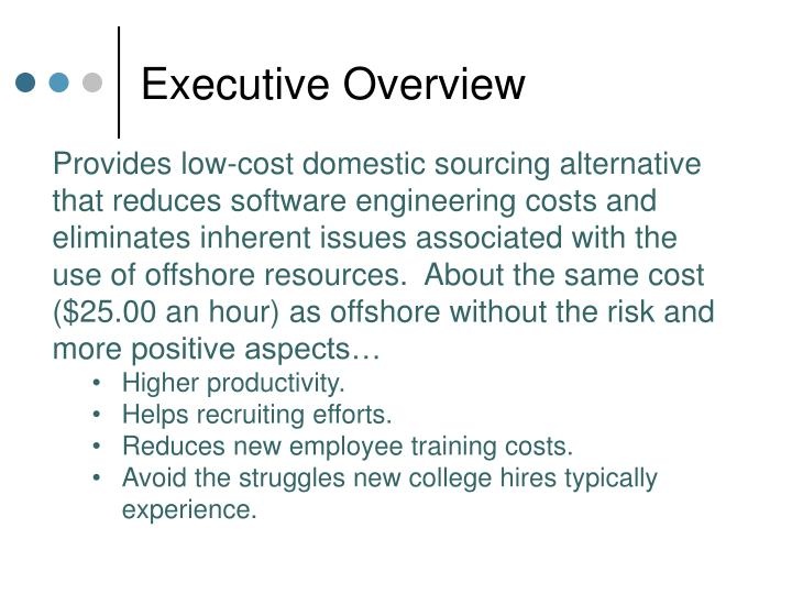 Executive overview