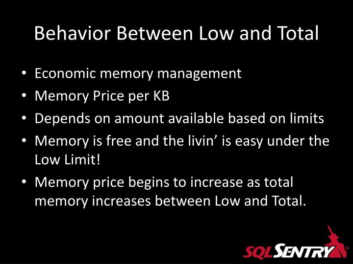 Behavior Between Low and Total