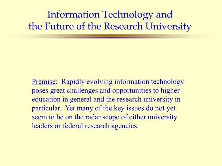 Information Technology and