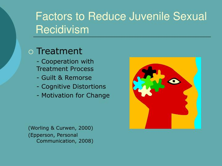 Factors to Reduce Juvenile Sexual Recidivism
