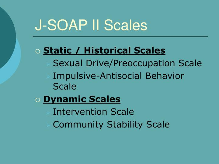 J-SOAP II Scales