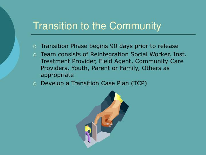 Transition to the Community