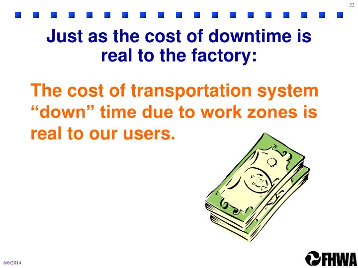 Just as the cost of downtime is real to the factory: