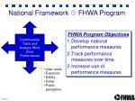 national framework fhwa program