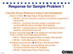 response for sample problem 1