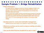 sample problem 1 bridge rehabilitation