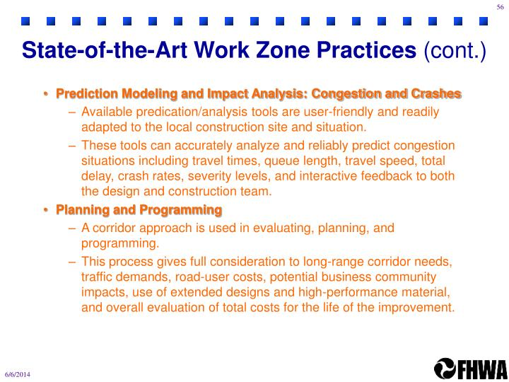 State-of-the-Art Work Zone Practices