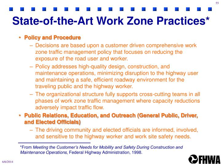 State-of-the-Art Work Zone Practices*