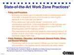 state of the art work zone practices