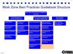 work zone best practices guidebook structure