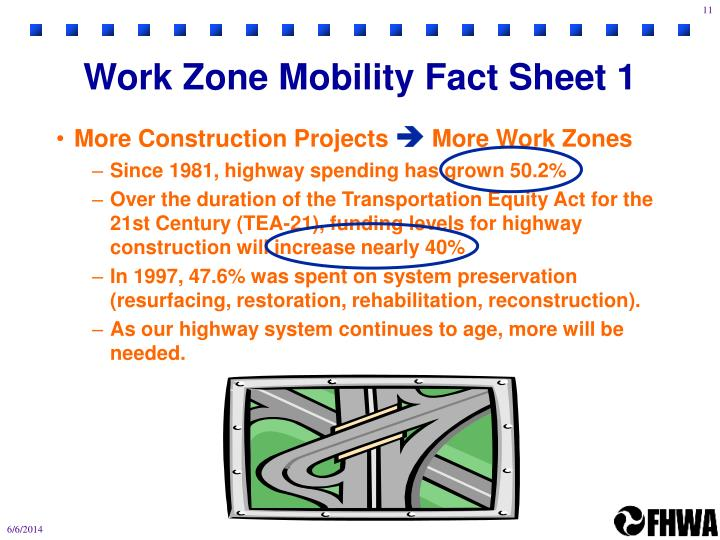 Work Zone Mobility Fact Sheet 1