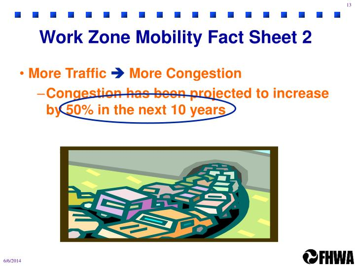 Work Zone Mobility Fact Sheet 2