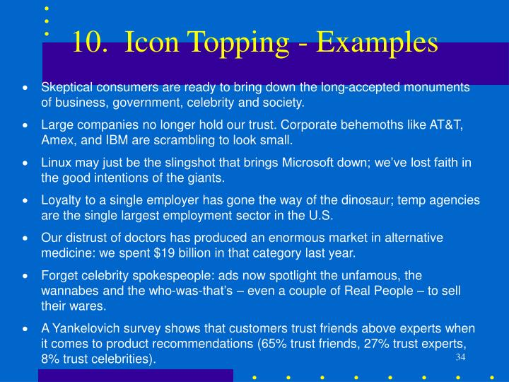 10.  Icon Topping - Examples