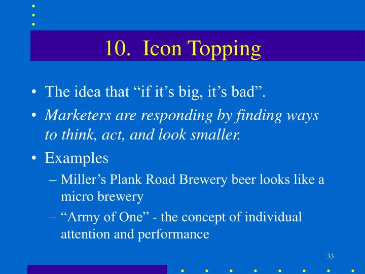 10.  Icon Topping
