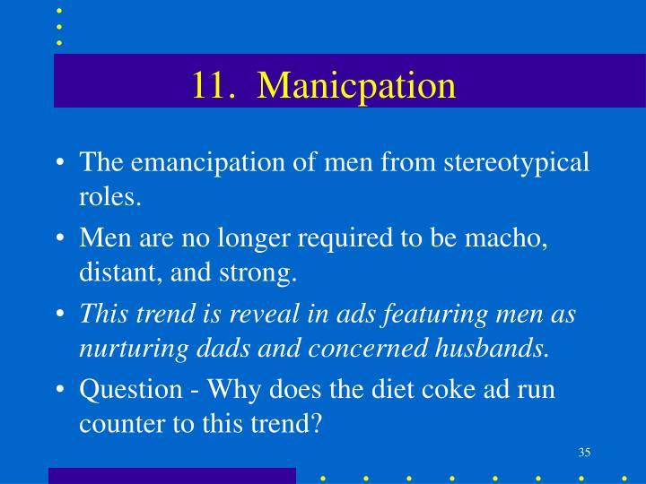 11.  Manicpation