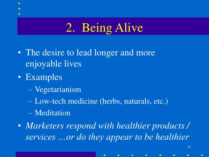 2.  Being Alive