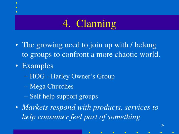 4.  Clanning