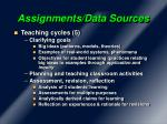assignments data sources