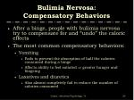 bulimia nervosa compensatory behaviors