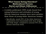 what causes eating disorders multicultural factors racial and ethnic differences