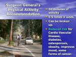 surgeon general s physical activity recommendation