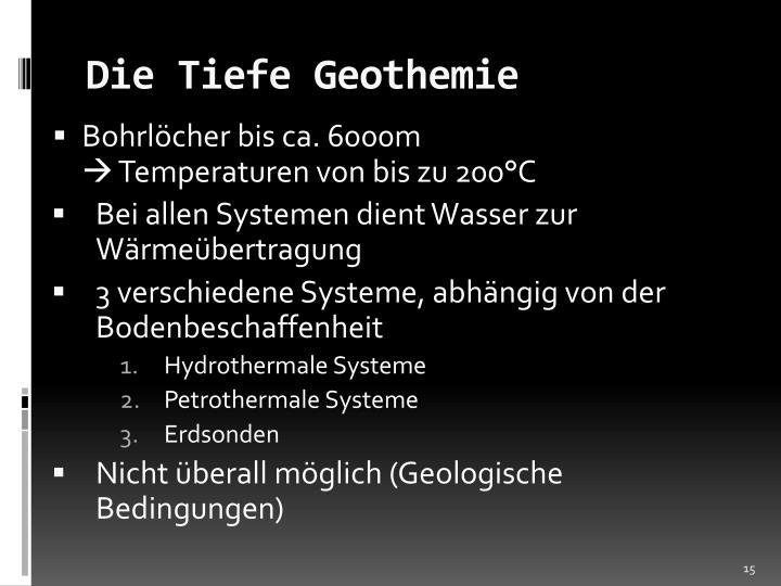 Die Tiefe Geothemie