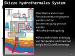 skizze hydrothermales system
